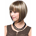 cheap Synthetic Capless Wigs-blonde brown mix wig silky straight short classy bob style synthetic wigs for women free shipping