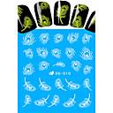 hesapli Lolita Aksesuarları-1 pcs Tam Tırnak Uçları Tırnak Takısı Su Transferi Sticker tırnak sanatı Manikür pedikür Sevimli Klasik / Karikatür / Karanlıkta Parlayan Günlük / Nail Jewelry