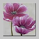 abordables Bombillas LED-Pintura al óleo pintada a colgar Pintada a mano - Floral / Botánico Modern Lona