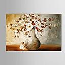 billige Blomster-/botaniske malerier-Hang malte oljemaleri Håndmalte - Blomstret / Botanisk Europeisk Stil / Moderne / Parfymert Lerret