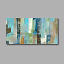 abordables Cuadros de Flores/Botánica-Pintura al óleo pintada a colgar Pintada a mano - Abstracto Modern Lona