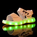 billige Guttesko-Gutt Sko PU Sommer Lysende sko Sandaler LED til Svart / Mørkeblå / Brun