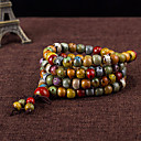 cheap Bracelets-Beaded Layered Strand Bracelet - Fashion, Multi Layer Bracelet Brown For Daily Casual