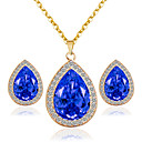 cheap Jewelry Sets-Women's Jewelry Set - Include Bridal Jewelry Sets Red / Blue / Pink For Wedding / Party