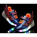 baratos Luzes de LED para Armários-Para Meninas Sapatos Couro Ecológico Verão Tênis com Rodinhas / Tênis com LED Tênis Caminhada LED para Laranja / Fúcsia / Azul Real