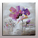 billige Oliemalerier-Hånd-malede Abstrakt / Blomstret/Botanisk Oliemalerier,Moderne Et Panel Canvas Hang-Painted Oliemaleri For Hjem Dekoration