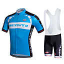 cheap Cycling Jersey & Shorts / Pants Sets-Fastcute Men's Short Sleeve Cycling Jersey with Bib Shorts Plus Size Bike Bib Shorts / Jersey / Bib Tights, Breathable, 3D Pad, Quick Dry, Sweat-wicking Polyester, Lycra Sports / Stretchy