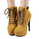 preiswerte Damen Stiefel-Damen Schuhe Baumwolle / Stoff Herbst / Winter Komfort / Neuheit / Gladiator Stiefel Stöckelabsatz / Plattform Braun / Rot / Rosa / Party & Festivität / Schneestiefel / Modische Stiefel