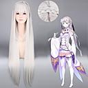 billige Anime Cosplay Parykker-Syntetiske parykker / Kostumeparykker Lige Syntetisk hår Grå Paryk Dame Meget lang Grå
