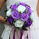 """hesapli Düğün Çiçekleri-Düğün Çiçekleri Buketler Düğün / Parti / Gece Saten 9.84""""(Yaklaşık25cm)"""