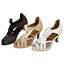 ieftine Pantofi Dans Latin-Pentru femei Pantofi Dans Latin / Pantofi Salsa Sclipici Spumant / Imitație de Piele Sandale / Călcâi Sclipici Strălucitor / Dantelă Toc