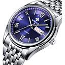 abordables Relojes de Vestir-Hombre Reloj de Pulsera Calendario / Resistente al Agua / Noctilucente Acero Inoxidable Banda Lujo / Casual / Reloj de Vestir Plata / Sony S626 / Dos año