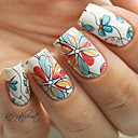 cheap Water Transfer Nail Stickers-1 pcs Flower / Fashion Water Transfer Sticker Daily
