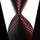 abordables Tie Bar-Hombre Clips de lazo Moda Negro Rojo Tejido Pasador