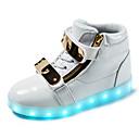 halpa Lasten saappaat-Poikien Synteettinen Bootsit Pikkulapset (4-7 vuotta) / Suuret lapset (7 vuotta +) Muotisaappaat / Välkkyvät kengät Kävely Soljilla / Solmittavat Valkoinen / Musta / Punainen Talvi