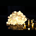cheap LED String Lights-10m String Lights 100 LEDs Dip Led Warm White Linkable 1 set / IP44