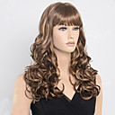 cheap Bakeware-28inch long curly brown blonde two tone color hair wigs sexy fashion women night pub classic hair style Halloween