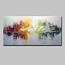 tanie Sztuka oprawiona-Hang-Malowane obraz olejny Ręcznie malowane - Streszczenie Klasyczny / Tradycyjny / Nowoczesny Brezentowy / Rozciągnięte płótno