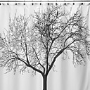 billige Strass og dekorasjoner-Dusjgardiner Moderne polyester Blomster / botanikk Maskinprodusert