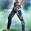 halpa Leggingsit-Naisten Polyesteri Spandex Keskipaksu Kuvio Urheilullinen Leggingsit,Eläinkuvio Musta