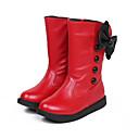 abordables Zapatos de Niña-Chica Zapatos PU Invierno Botas de Combate Botas Cremallera para Blanco / Negro / Rojo