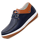 cheap Men's Slip-ons & Loafers-Men's Leather Shoes Leather / Cowhide Spring / Fall Comfort Oxfords Slip Resistant White / Blue