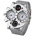 levne Vojenské hodinky-Oulm Pánské Vojenské hodinky Křemenný Japonské Quartz Nerez Stříbro Teploměr Kompas Hodinky s dvojitým časem Analogové Bílá Černá Hnědá Dva roky Životnost baterie / SOXEY SR626SW