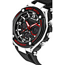 cheap Bag Sets-SANDA Men's Sport Watch / Smartwatch / Wrist Watch Chronograph / Water Resistant / Water Proof / LED Silicone Band Luxury / Casual / Fashion Black / Silver / Stainless Steel / Dual Time Zones
