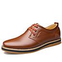 olcso Férfi félcipők-Férfi Formális cipők Bőr Tavasz Alkalmi / Kényelmes Félcipők Gyalogló Fekete / Barna / Bőr cipők