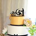 ieftine Vârfuri de Tort-Vârfuri de Tort Temă Clasică Cuplu Clasic Teracotă Nuntă cu Flori 1pcs Cutie de Cadouri