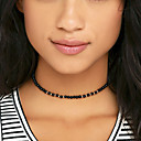 cheap Necklaces-Women's Beaded Choker Necklace / Tattoo Choker - Tattoo Style, Bohemian, Simple Style White, Black Necklace For Wedding, Party, Daily