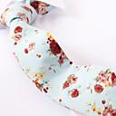 Χαμηλού Κόστους Αντρικά Oxford-μπλε του ουρανού floral κοκαλιάρικο γραβάτες βαμβάκι