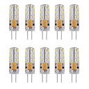 billige LED lyspærer-10pcs 1W 460lm G4 LED-lamper med G-sokkel Tube 24 LED Perler SMD 3014 Dekorativ Varm hvid Kold hvid 12V