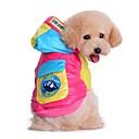 preiswerte Hundekleidung-Katze Hund Mäntel Kapuzenshirts Hundekleidung Einfarbig Rose Blau Baumwolle Kostüm Für Haustiere Herrn Damen warm halten Modisch