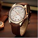 baratos Peruca para Fantasia-YAZOLE Homens Relógio de Pulso Noctilucente Couro Banda Amuleto / Relógio Elegante Preta / Marrom