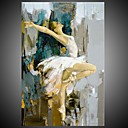 cheap Oil Paintings-Oil Painting Hand Painted - People Mediterranean / Modern Stretched Canvas