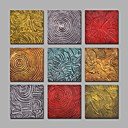 cheap Floral/Botanical Paintings-IARTS 9 Sets Handpainted Canvas Paintings Modern Abstract Artwork R2H