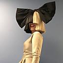 billige Kostymeparykk-Syntetiske parykker Rett Syntetisk hår Ombre-hår Svart Parykk Dame Kort Lokkløs Svart