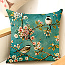cheap Holiday Decorations-1 pcs Cotton / Linen Sofa Cushion / Body Pillow, Floral Traditional / Classic