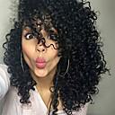 halpa Synteettiset peruukit ilmanmyssyä-Synteettiset peruukit Kihara / Afro Synteettiset hiukset Sivuosa / Afro-amerikkalainen peruukki Musta Peruukki Naisten Lyhyt Suojuksettomat
