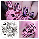 cheap Other Nail Tools-rose flower nail art stamping template image plate born pretty bp 73 nail stamping plates manicure stencil set