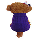 cheap Kitchen Appliances-Dog Sweater Dog Clothes Flower Orange Purple Acrylic Fibers Costume For Pets Men's Women's Fashion