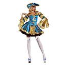 billige Pudebetræk-Pirat Cosplay Kostumer / Festkostume Dame Halloween Festival / Højtider Halloween Kostumer Blå Patchwork