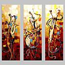 povoljno Apstraktno slikarstvo-Hang oslikana uljanim bojama Ručno oslikana - Sažetak Klasik Tradicionalno Painting Only / Tri plohe