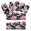 billige Heldækkende negleklistermærker-1 Neglekunst Klistermærke Vandoverførende decals Blomst Makeup Kosmetik Neglekunst Design