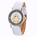 preiswerte Modische Uhren-Damen Armbanduhr Mond Phase / Cool PU Band Charme / Retro / Süßigkeit Schwarz / Weiß