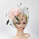 abordables Tocados de Fiesta-red de plumas fascinators headpiece elegante estilo femenino clásico