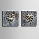 cheap Prints-Floral/Botanical Classic, Two Panels Canvas Square Print Wall Decor Home Decoration