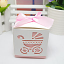 cheap Party Supplies-Cubic Card Paper Favor Holder with Ribbons Favor Boxes Cookie Bags Gift Boxes Candy Jars and Bottles - 12