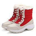 baratos Sapatos de Salto-Feminino-Botas-Botas de Neve-Rasteiro-Preto Azul Vermelho Branco-Courino-Ar-Livre